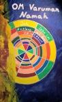 Mantra Om Varuman Namah, Acrylfarbe & Encaustic