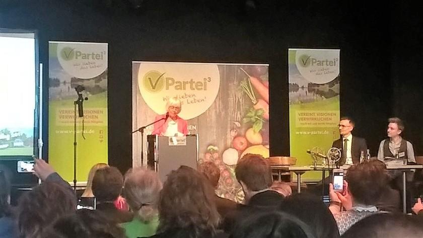 Barbara Rütting, Parteitag V-Partei in Weimar 01.04.17